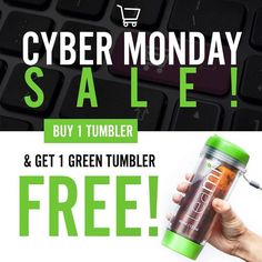 It's another BOGO deal from @teamiblends just for you on Cyber Monday. Today only use code AMYWCM and receive a free green tumbler with the purchase of a tea tumbler! #thankyouteami #teamiblends #teamicommunitea #naturalweightloss #curbappetite #fightcravings #boostmetabolism #organic #looseleaftea #teami #teatox #lifestyleblogger #atlanta #discountcode