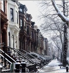 #Brooklyn Brownstones in the Snow