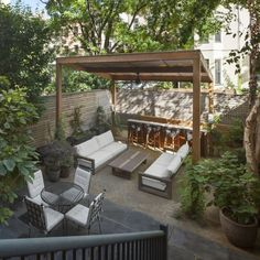 Browse 20 beautiful outdoor rooms from patios to backyards and outdoor living rooms that allow you to enjoy the outdoors with the comforts of home. Brooklyn Backyard, Backyard Patio Designs, Backyard Ideas, Gazebo Ideas, Garden Ideas, Terrace Ideas, Patio Ideas, Gazebo On Deck, Deck Patio
