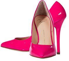 Neon Fuchsia Patent Leather Pumps Giuseppe Zanotti - http://womenspin.com/shoes/neon-fuchsia-patent-leather-pumps-giuseppe-zanotti/