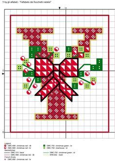 alfabeto dei fiocchetti natalizi Y