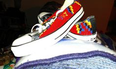 """beaded Converse all-stars by """"Rezturtle French""""  Nice!!"""
