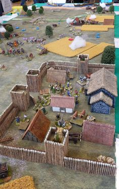 Medieval Houses, Medieval Town, Forte Apache, Dnd Mini, Toy Castle, Game Terrain, Wargaming Terrain, D&d Dungeons And Dragons, Military Diorama