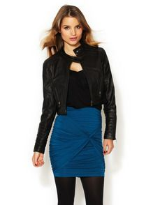 Leah Leather Jacket by Tart at Gilt