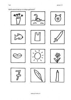 Welk woord hoor je in het midden? Daily Activities, Book Activities, Teaching, Logos, Pdf, Website, Image, 1st Grades, Languages