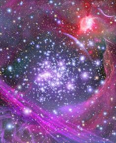 This artist's impression shows how the Arches star cluster appears from deep inside the hub of our Milky Way Galaxy. Hidden from our direct view, the massive cluster lies light-years away and is the densest known gathering of young stars in our galaxy. Cosmos, Hubble Space Telescope, Space And Astronomy, Telescope Images, Space Planets, Nasa Space, Space Wallpaper, Hubble Images, Star Cluster
