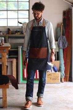Selvedge Denim & Leather Apron Customization by AmericanNative