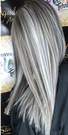hair highlights colour 15 Ash Blonde Hair Color Ideas To Show Off : Fabulous Blonde Hair Color Hey i think you are smiling right now. So, if I am not wrong then i am sure that you have just findout your searching result. So, do not delay, take a look! Gray Hair Highlights, Silver Blonde, White Blonde, Grey Blonde Hair, Brown And Silver Hair, Dark Brown, Platinum Blonde, Brown Hair, Blonde Balayage
