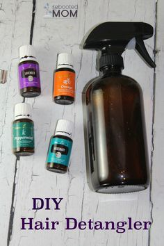 Homemade {DIY} Hair Detangler with Essential Oils