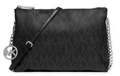 Michael Kors Jet Set Chain Logo Messenger Black Handbag NEW #MichaelKors #MessengerCrossBody