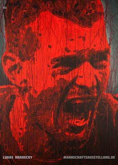 Lukas Hradecky, Eintracht Frankfurt, acrylics on canvas, 70cmx100cm