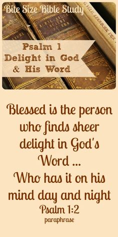 The key to righteousness and peace...DELIGHT in God's Word. ~ Click image and when it enlarges, click again to read this 1-minute encouragement.