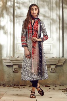 Grey and Off White Colour Linen Fabric Party Wear Unstitched Pakistani Suit Comes With Matching Bottom and Dupatta Fabric. This Suit Is Crafted With Digital Prints. This Suit Comes As a Unstitched Whi...