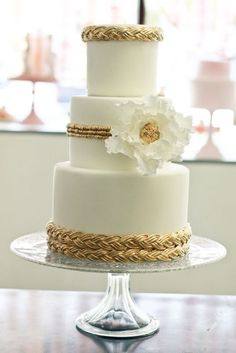 Bohemian Gold braid cake