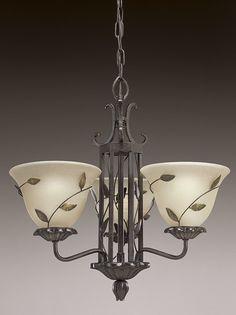 Eden Collection Forged Bronze 3 Light Chandelier Chandelierspot