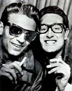 Wow... a young Waylon Jennings with Buddy Holly