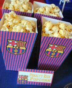 Ideas for a FC Barcelona Party. Looking for soccer party inspiration? This party is fun, colorful and full of awesome soccer treats! Sports Themed Birthday Party, Birthday Themes For Boys, Football Birthday, 10th Birthday Parties, Birthday Treats, Sports Party, Messi Birthday, Car Birthday, Barcelona Soccer Party