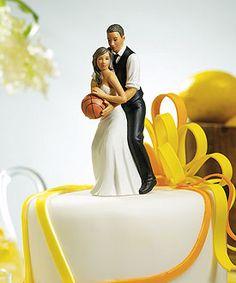 Basketball wedding cake topper $35.98 http://thingsfestive.weddingstar.com/product/basketball-dream-team-bride-and-groom-couple-figurine