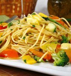 Recipe of the Day ~ Vegan Pasta Primavera Pasta Primavera, Macrobiotic Recipes, Vegetarian Recipes, Healthy Recipes, Delicious Recipes, Healthy Weeknight Dinners, Vegan Pasta, Le Chef, Sugar Free Recipes