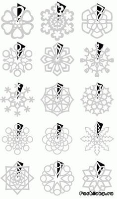 Send your sponsored child some Paper Snowflakes using these patterns!