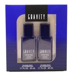 Gravity Cologne by Coty for Men. 2 Pc. Gift Set ( Cologne Spray 2 X 1.7 Oz / 2 X 50ml) by Coty. $18.99. We offer many great sales and discounts making this fragrance cheaper than at department stores.. Packaging for this product may vary from that shown in the image above. All our fragrances are 100% originals by their original designers. We do not sell any knockoffs or immitations.. Gravity Cologne for Men 2 Pc. Gift Set ( Cologne Spray 2 X 1.7 Oz / 2 X 50ml). 2...