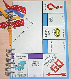 Altered Journal - vintage Monopoly board