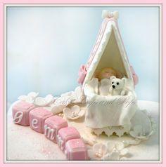 Cradle cake topper