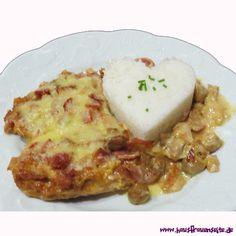 Mailänder Schnitzeltopf  man kann den Mailänder Schnitzeltopf auch prima als Partyrezept nehmen Snacks, Mashed Potatoes, Steak, Food And Drink, Cheese, Chicken, Breakfast, Ethnic Recipes, German