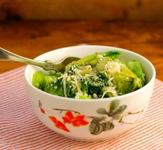 Recipe for sautéed escarole with garlic and parmesan cheese {The Perfect Pantry}