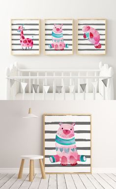 ☆ A Beautiful Nursery Decor Set of 3 Prints for Your Little One.