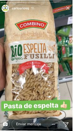 Carlos Ríos en el Lidl Fusilli, Real Food Recipes, Snack Recipes, Snacks, Lidl, Pasta, Chips, Bread, Healthy
