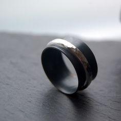 Night  spinner silver ring male wedding ring por LUNATICART en Etsy