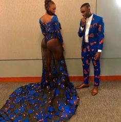 Last year saw a host of very revealing prom dresses from our African brothers and sisters in the US. African Wear, African Attire, African Dress, African Prom Dresses, African Fashion Dresses, African Print Fashion, Africa Fashion, Suit Fashion, Fashion Outfits