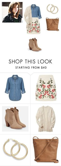 """Allison Argent Outfit"" by zoegeorgiou2001 on Polyvore featuring Miss Selfridge, Topshop, JustFab and BAGGU"
