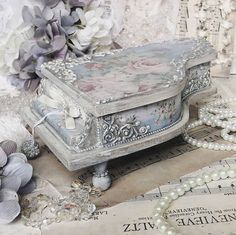 Your place to buy and sell all things handmade Hobbies And Crafts, Diy And Crafts, Cigar Box Crafts, Box Wedding Invitations, Decoupage Box, Jewellery Boxes, Old Doors, Cottage Style, Wooden Boxes