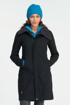 """Icebreaker """"Highline 3/4 Jacket"""" $379.99 -- The lightweight Highline is one of the most versatile jackets around, making it perfect for travel. A durable water repellent outer layer keeps the rain out, while a 150gm pure merino inner ensures next-to-skin comfort and warmth. Featuring a brushed fleece inner collar, detachable shaped handy zipped pockets, and a two-way front zip with external storm flap for extra weather protection. It packs down small - take it anywhere."""