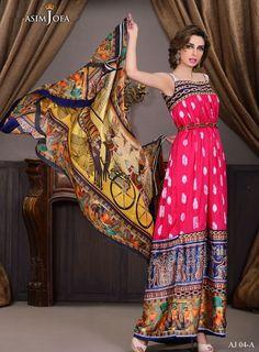 Pakistani Ladies Shalwar Kameez Asim Jofa brand AJ 04-A Stitched/Un-Stiched Suit in Salwar Kameez | eBay