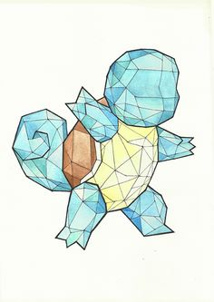 I've been working on a series of Geometric Pokemon. I thought that you guys might like it !
