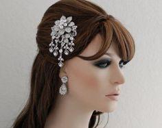 SALE Swarovski Comb Bridal CZ Hair Comb by EleganceByKate on Etsy