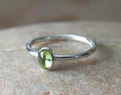 Peridot Stacking Ring 6x4 mm in Sterling Silver, August Birthstone, Green Gemstone, Gift for Her, Size 2 to 15, Birthstone Jewelry, Small by BirkaScandinavian on Etsy https://www.etsy.com/listing/493054979/peridot-stacking-ring-6x4-mm-in-sterling