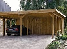 Image result for flat roof wood structure