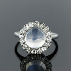 vintage moonstone jewelry | Moonstone is a variety of Orthoclase Feldspar . Named for its blue ...