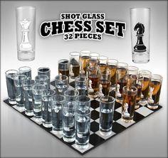 Shot Glass Chess Set.