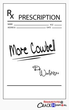 I got a fever, and the only prescription is more cowbell. Saturday Night Live