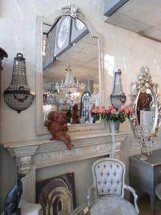 Le Chateau: Where household dreams become a timeless reality European Furniture, French Furniture, Stone Fireplaces, French Decor, French Style, Cottage Chic, Household, Dreams, Contemporary