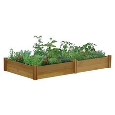 """48""""x95""""x13"""" Raised Garden Bed Two Tier - Unfinished - Gronomics : Target"""