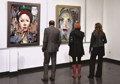 Gallery exhibit.   Yen, Marvel   Mihail Miho Korubin  Korubin  #art #Figurative #paintings #figures #faces #portraits #hands #korubin #mihail #oil #canvas #exhibition