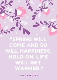 Spring is my favorite! Happy Spring, Spring Time, Happy Easter Quotes, Spring Quotes, Instagram Bio, How To Get Warm, Religious Quotes, Hold On, Make It Yourself