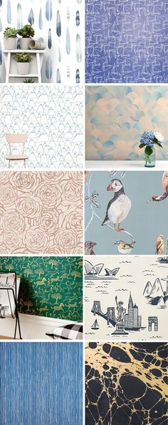 Redecorating? Lots of pretty wallpaper inspiration at Cup of Joe