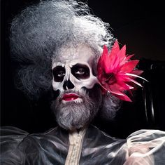 In honor of Mathu Andersen's Emmy nom for his work on RuPaul's Drag Race, we thought it would be appropriate to revisit some of his masterpieces. Check out our post from last fall: Oh t… Skeleton Face Paint, Skull Face Paint, Skeleton Makeup, Beard Makeup, Male Makeup, Christina Aguilera, Janet Jackson, Rupaul, Jennifer Lopez
